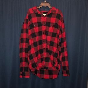 Men's American Eagle Red/Black Flannel